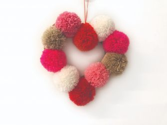 Pom Pom Heart Wreath Craft Kit