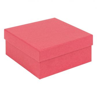 Kraft Recycled Gift Box | Deeper Square Jewellery Box  Red