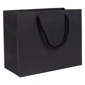 Medium Landscape Paper Gift Bag | Rope Handles  Black
