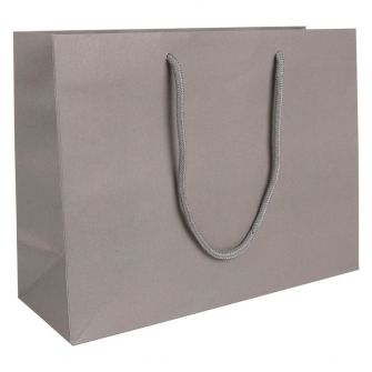 Large Landscape Paper Gift Bag | Rope Handles  Grey