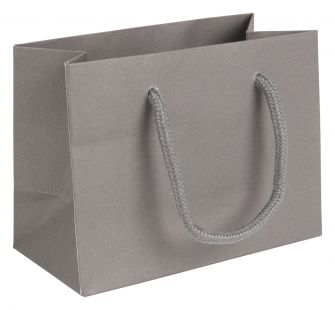 SECONDS Small Landscape Grey Paper Gift Bag With Rope Handles