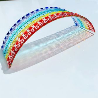 Make at Home Fused Glass Rainbow Arch Kit Small