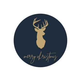 Christmas Label/Tag - Stag Head