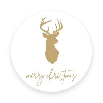 Christmas Label/Tag - Stag