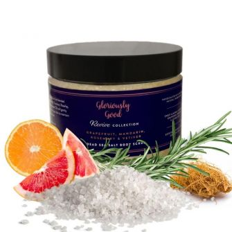 Grapefruit, Mandarin, Rosemary & Vetiver Dead Sea Salt Natural Aromatherapy Body Scrub
