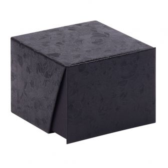 Deep Black Floral Bangle Box