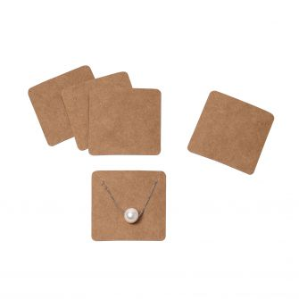 Kraft Necklace Holders | Pack of 100  Kraft