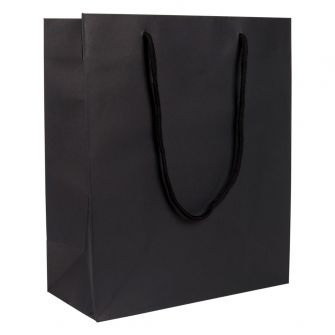 Large Portrait Paper Gift Bag | Rope Handles  Black
