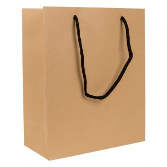 Large Portrait Paper Gift Bag | Rope Handles  Kraft