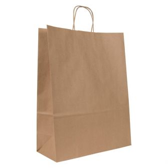 Large Brown Kraft Paper Gift Bag With Paper Twisted Handles