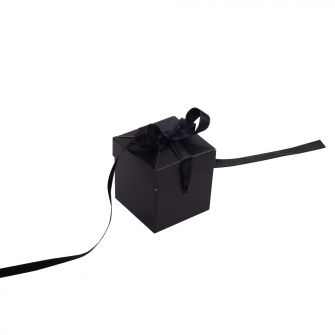 Black Small Cube Pop Up Gift Box