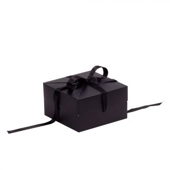 Black Shallow Square Pop Up Gift Box