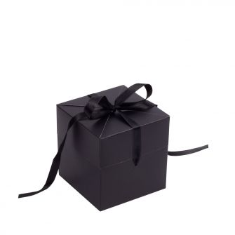 Black Cube Pop Up Gift Box