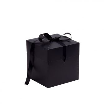 Black Large Cube Pop Up Gift Box