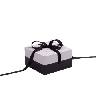 Black and White Shallow Square Pop Up Gift Box