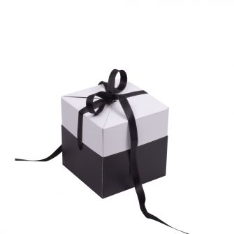 Black and White Cube Pop Up Gift Box