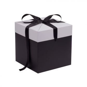 Black and White Extra Large Cube Pop Up Gift Box