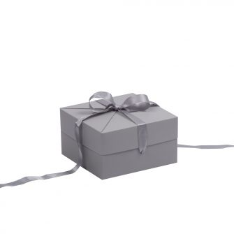 Grey Shallow Square Pop Up Gift Box