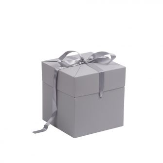 Grey Large Cube Pop Up Gift Box