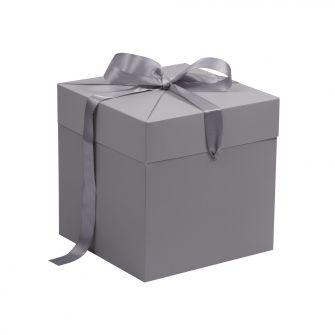 Grey Extra Large Cube Pop Up Gift Box