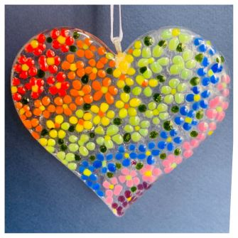 Make at Home Fused Glass Rainbow Heart Kit
