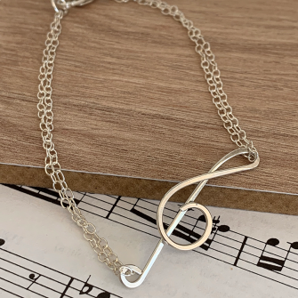 Treble Clef Bracelet made from Sterling Silver