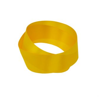 Yellow recycled bottle ribbon 25mm width in a roll