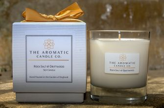 Rock Salt & Driftwood Candle