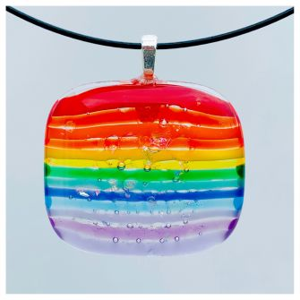 Rainbow Necklace Square