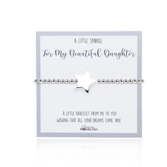 A Little Sparkle For My Beautiful Daughter Bracelet