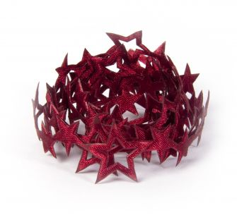 Decorative Star Ribbon  Burgundy