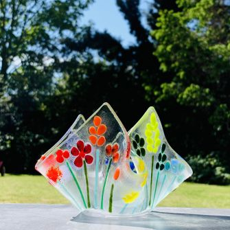 Make at Home Fused Glass Sculptural Tea Light Kit