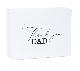 Thank you Dad Deep White Laminated Magnetic Gift Box