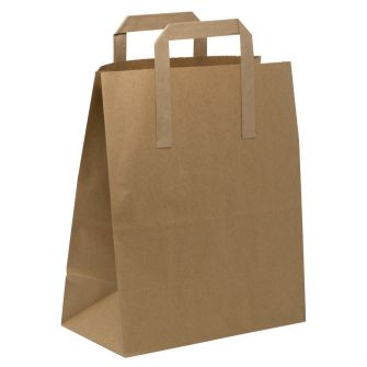 Large Take Away Paper Gift Bag with Tape Handles