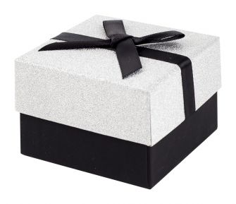 Black and Silver Glitter Gift Box