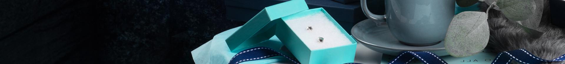 Kraft Aqua Jewellery Gift Boxes