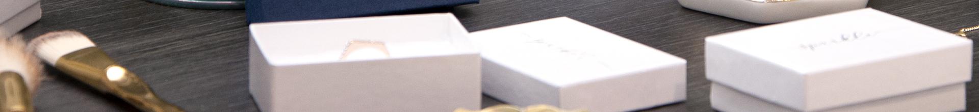Kraft White Swirl Jewellery Gift Boxes
