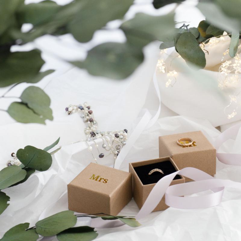 Bridal Kraft ring boxes