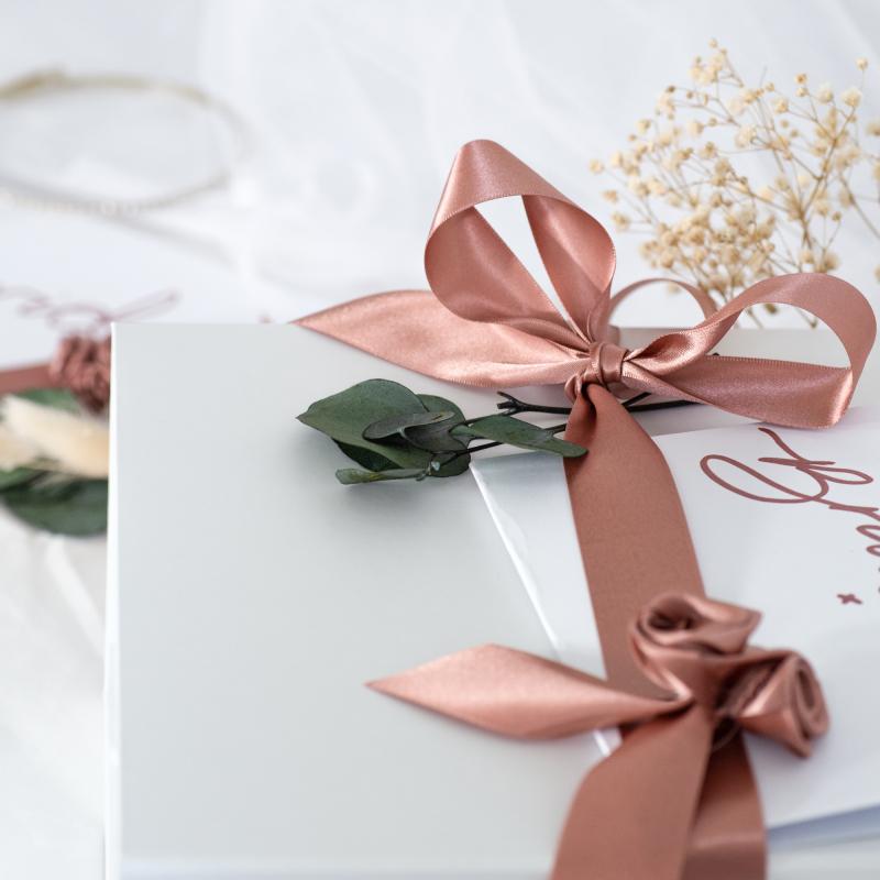 Ethical Rose Gold Ribbon, Bridal Hamper