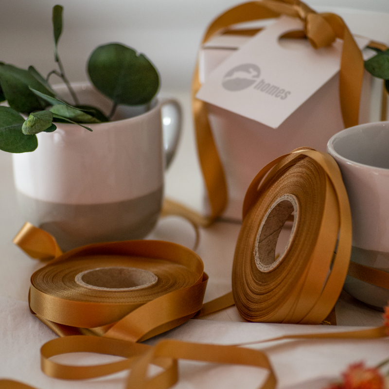 Dark Gold Wood Pulp Ribbon