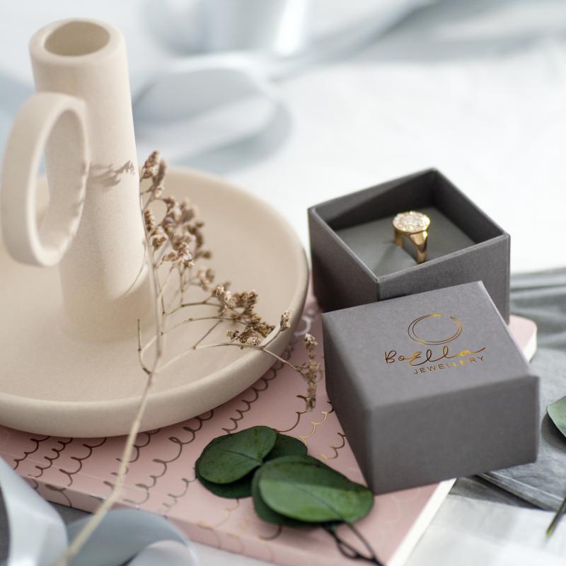 Foil printed ring box