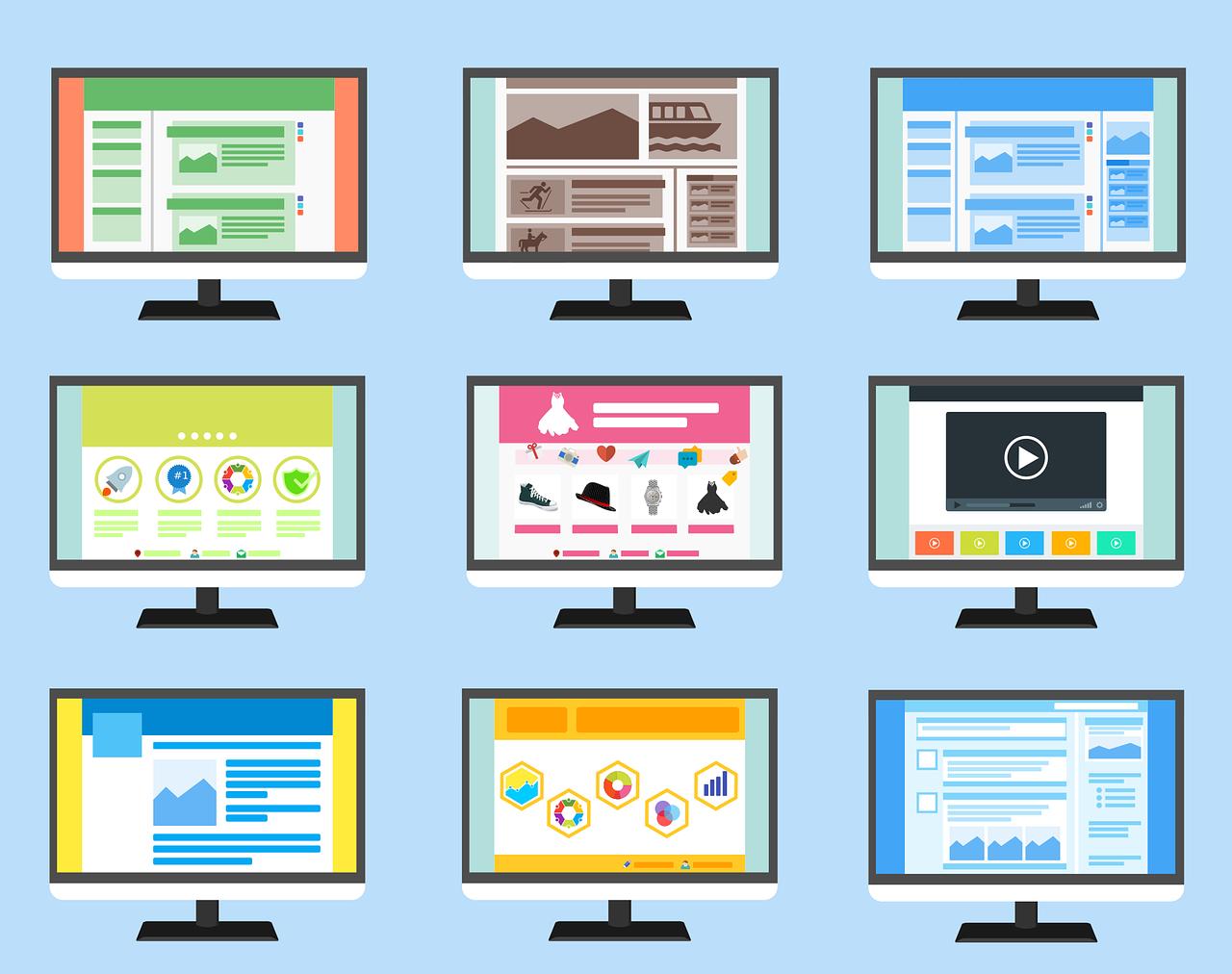 Website building tips illustration